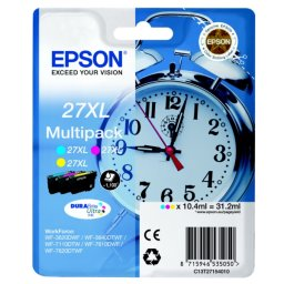 Tusze Multipack oryginalne Epson C13T27154012 CMY 27XL