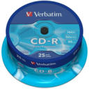 Dysk CD-R 700MB Verbatim 52x Cake Box 25 szt. DL