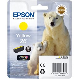 Tusz do Epson XP-600 XP-605 XP-700 XP-800 C13T26144010 Epson T2614 yellow