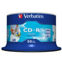 Dysk CD-R 700MB Verbatim 52x Cake Box 50 szt. printable DLP